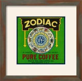 Zodiac Coffee Label - New Orleans  LA