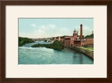 Manchester  New Hampshire  Merrimack River View of Factories