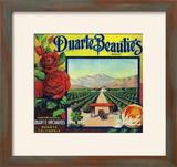 Duarte  California  Duarte Beauties Brand Citrus Label