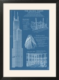 Sears Tower Blue Print - Chicago  Il  c2009