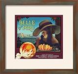 Piru  California  Belle of Piru Brand Citrus Label