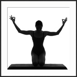 Woman Sitting with Arms Up