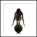 Woman Balancing on Globe