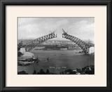 The Sydney Harbour Bridge During Construction in Sydney  New South Wales  Australia