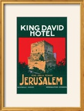 King David Hotel Luggage Label