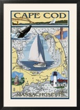 Cape Cod  Massachusetts Chart & Views