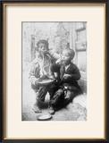 Two Neapolitan Children Slurp Down Spaghetti