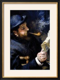 Claude Monet Reading a Newspaper