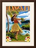 Hawaii Hula Girl on Coast