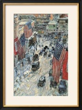 Flags on Fifth Avenue  Winter 1918