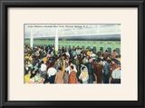 Saratoga Springs  New York - Crowds at Race Track Ticket Windows