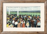 Saratoga Springs  New York - Crowds at Race Track Ticket Windows