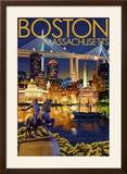 Boston  Massachusetts - Skyline at Night