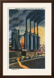 Pittsburgh  Pennsylvania - Steel Mill Scene at Night