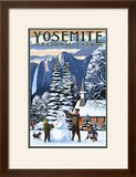 Yosemite Chapel and Snowman - Yosemite National Park  California