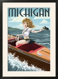 Michigan - Pinup Girl Boating