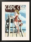 Cape Cod  Massachusetts - Llifeguard Pinup Girl