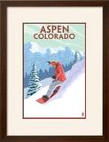 Downhill Snowboarder - Aspen  Colorado