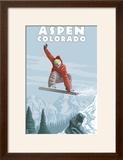 Jumping Snowboarder - Aspen  Colorado