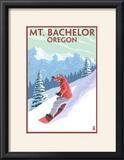 Mt Bachelor  Oregon - Snowboarder Scene