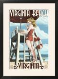 Virginia Beach  Virginia - Pinup Girl Lifeguard