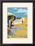 Lake Michigan - Beach Scene