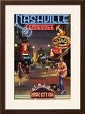 Nashville  Tennessee - Broadway at Night