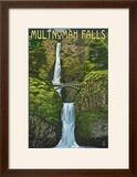 Multnomah Falls  Oregon - Summer View