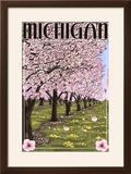 Michigan - Cherry Orchard in Blossom
