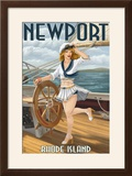 Newport  Rhode Island - Pinup Girl Sailing