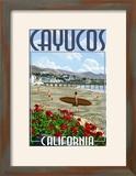 Cayucos  California - Beach and Pier Scene