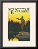 Yellowstone River  Montana - Fly Fishing Scene