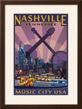 Nashville  Tennessee - Skyline at Night