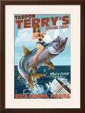 Boca Grande  Florida - Pinup Girl Tarpon Fishing