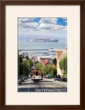 San Francisco  California - Cable Car and Alcatraz Island
