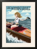 Lake Winnipesaukee  New Hampshire - Pinup Girl Boating