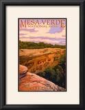 Mesa Verde National Park  Colorado - Cliff Palace at Sunset