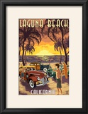 Laguna Beach  California - Woodies and Sunset