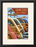 Laguna Beach  California - Woodies Lined Up