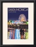 Santa Monica  California - Pier at Night