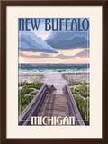 New Buffalo  Michigan - Beach Scene
