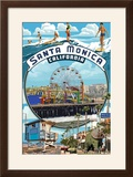 Santa Monica  California - Montage Scenes