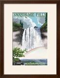 Snoqualmie Falls  Washington - Summer Scene