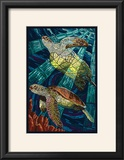Sea Turtle - Paper Mosaic