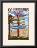 Laguna Beach  California - Destination Sign
