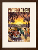 Venice Beach  California - Woodies and Sunset