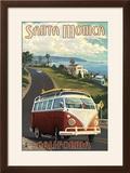 Santa Monica  California - VW Van Cruise