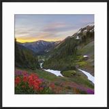 Badger Valley Sunrise  Olympic National Park  Washington  USA