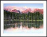Sunrise Reflections on Sprague Lake  Rocky Mountain National Park  Colorado  USA