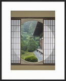 Tea House Window  Sesshuji Temple  Kyoto  Japan